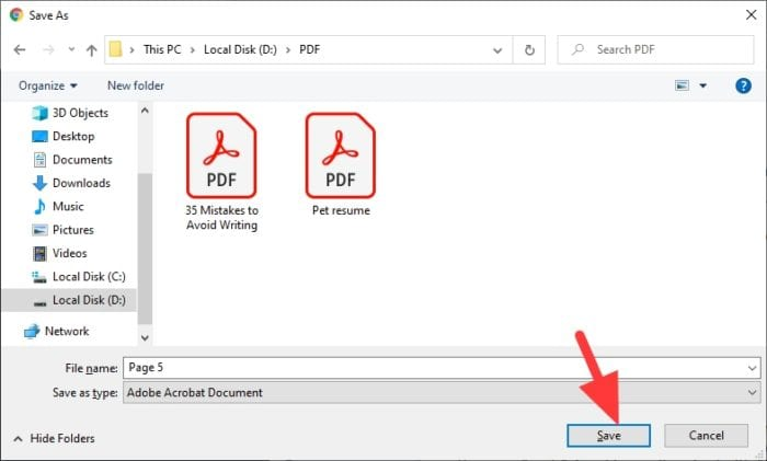 save one page pdf - How to Save One Single Page of a PDF Using Chrome 15