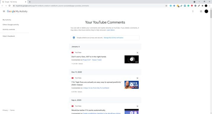 youtube comments - How to Quickly Find Your Comments on Youtube 9