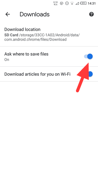 ask where to save files - How to Change Chrome's Download Location to SD Card 15