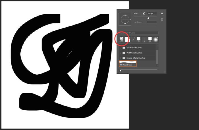brush created - How to Create Your Own Brush in Photoshop 17