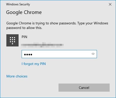 enter pin - How to See Your Saved Passwords on Chrome Desktop 13
