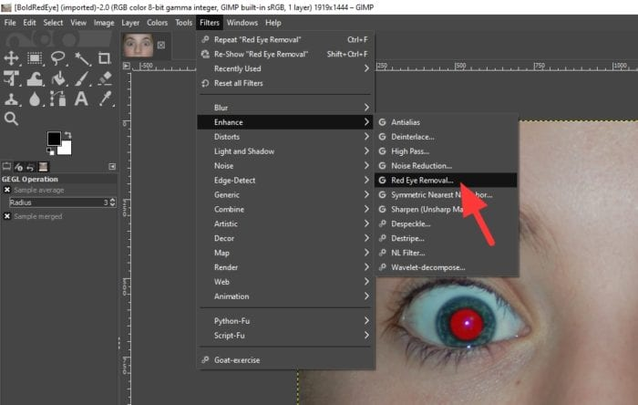 red eye removal - How to Fix Multiple Red Eyes Automatically with GIMP 7