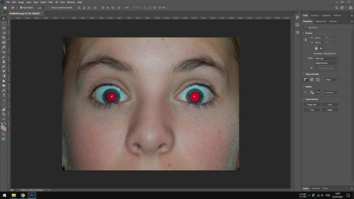 red eyes face - How to Fix Red Eyes Effect in Photos with Photoshop 5