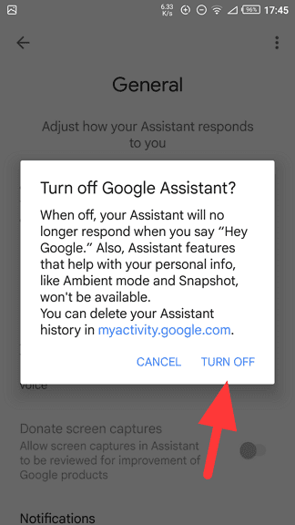 turn off - How to Disable Google Assistant on My Android Phone? 13
