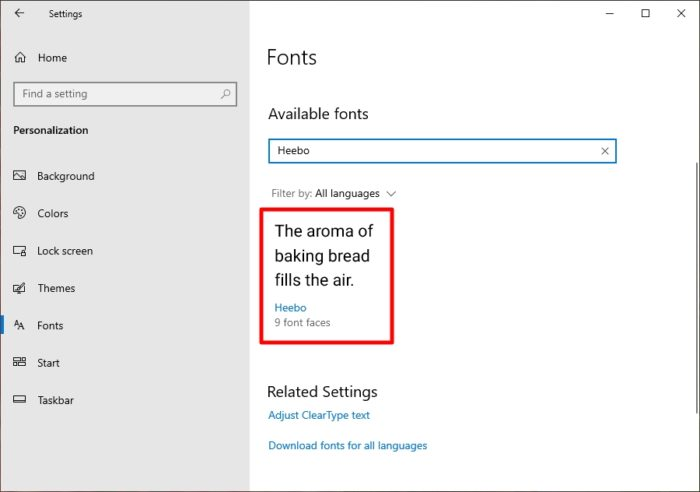 find font to delete - How to Add Multiple New Fonts to Windows 10 in an Instant 17