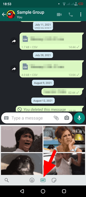 gif - How to Send Animated GIF in WhatsApp Chat 7