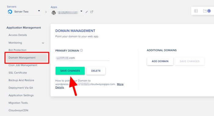 primary domain - How to Easily Migrate Your WordPress Website to Cloudways 29