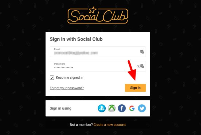 sign in with social club - How to Play Cool Custom Races on GTA Online 9