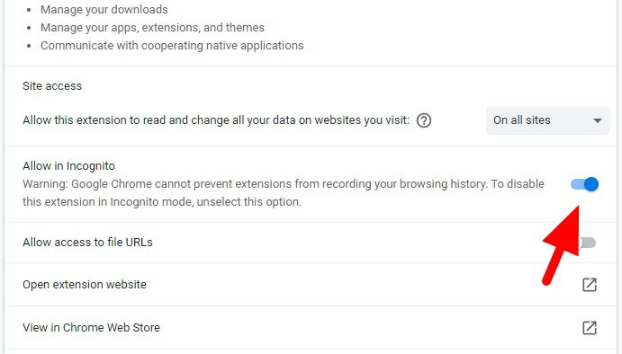 allow in incognito - How to Add IDM Extension to Chrome to Speed Up Download 17