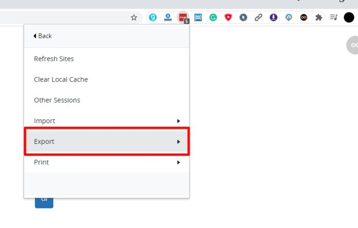 export 2 - How to Export Saved Passwords from Your LastPass Account 11