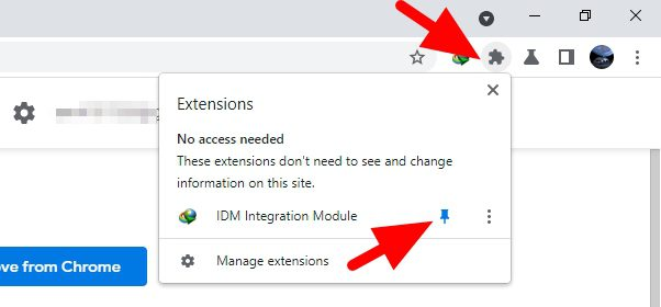 pin idm integration module - How to Add IDM Extension to Chrome to Speed Up Download 13