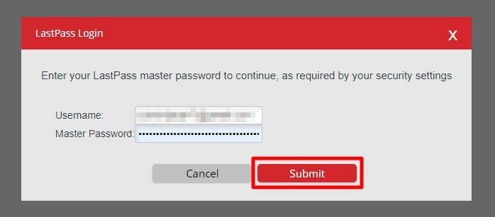 submit 1 - How to Export Saved Passwords from Your LastPass Account 35