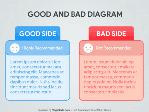Good and Bad Diagram PowerPoint Template