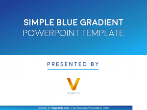 Simple Blue Gradient PowerPoint Template