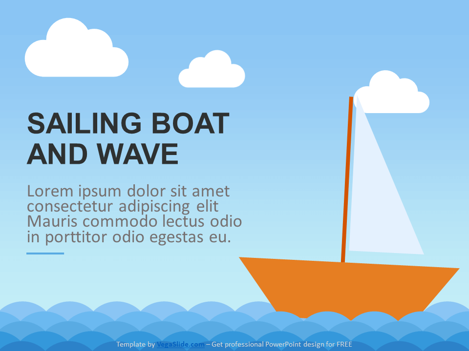 Sailing Boat and Wave PowerPoint Template
