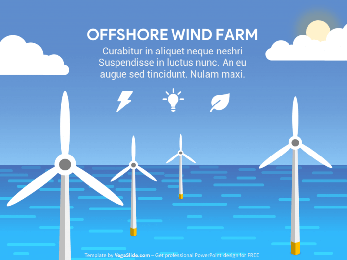 Animated Offshore Wind Farm PowerPoint Template