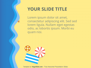 Beach Top-Down View PowerPoint Template