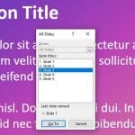 How to Jump to a Specific Slide in PowerPoint