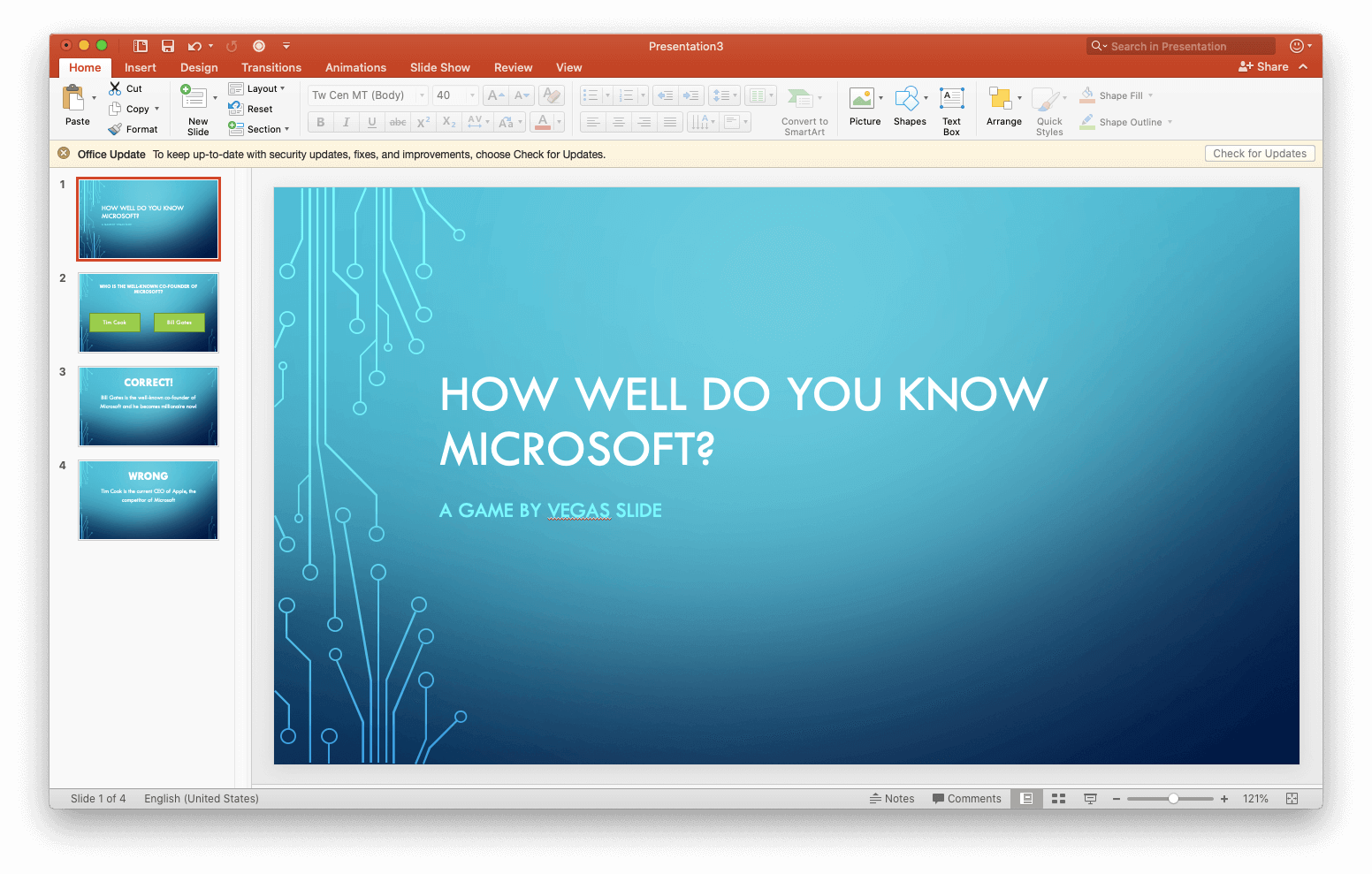 Link Powerpoint Slides Games